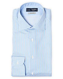 Slim Fit Striped Travel Shirt  Blue/White