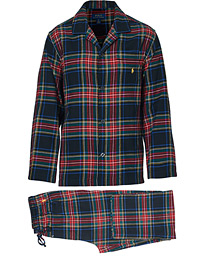 Flannel Check Pyjama Set Red/Green/Blue
