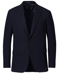 Soft Pinestripe Sportcoat Navy/Grey