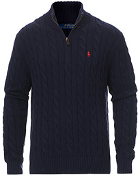 Cotton Cable Half-Zip Hunter Navy