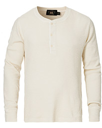 Long Sleeve Cotton Henley White