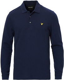 Lyle & Scott Long Sleeve Polo Shirt Navy