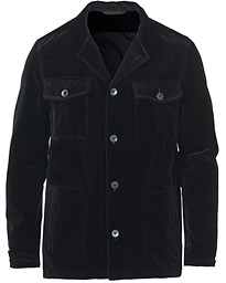 Holger Velvet Shirt Jacket Black