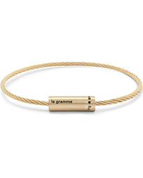 Cable Bracelet Brushed Gold 18-Karat