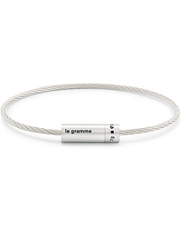Cable Bracelet Brushed Sterling Silver 7g