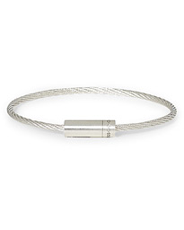 Cable Bracelet Brushed Sterling Silver 9g
