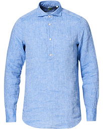 Linen Popover Shirt Light Blue