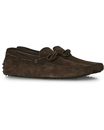 Laccetto Gommino Carshoe Dark Brown Suede