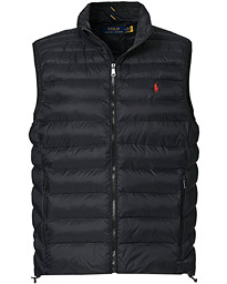 Recycled Nylon Vest Polo Black