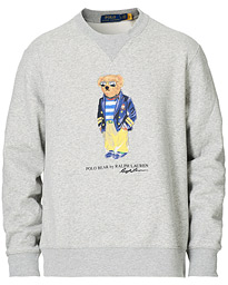 Printed Preppy Bear Fleece Sweatshirt Andover Heather