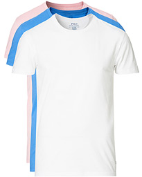 3-Pack Crew Neck Tee White/Blue/Pink