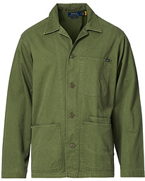 Piece Dyed Overshirt Army Olive