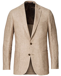 Sebastian Linen Patch Pocket Blazer Khaki