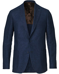 Sebastian Linen Patch Pocket Blazer Navy