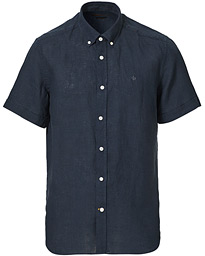 Douglas Linen Short Sleeve Shirt Navy