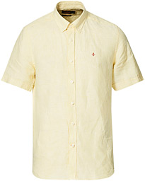 Douglas Linen Short Sleeve Shirt Yellow