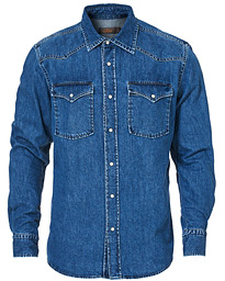 Walton Denim Western Shirt Blue