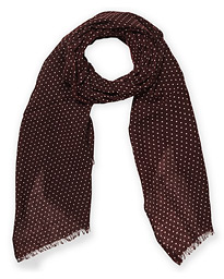 Classic Spot Printed Wool Scarf Bordeaux