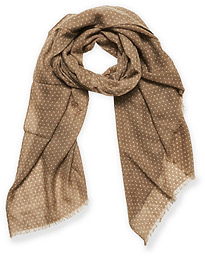 Classic Spot Printed Wool Scarf Beige
