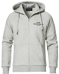 Original Logo Full Zip Hoodie Grey Melange