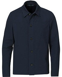 Cool Max Cotton Seersucker Overshirt Navy