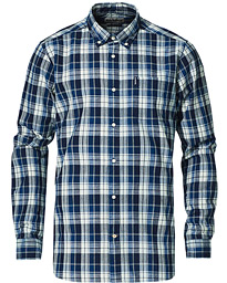 Gingham Seersucker 8 Short Sleeve Shirt Blue/White