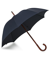 Polished Cherrywood Solid Umbrella Navy