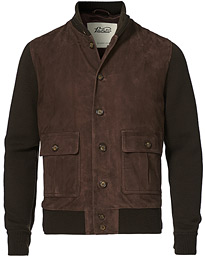 Valstarino Suede Combo Jacket Dark Brown Suede