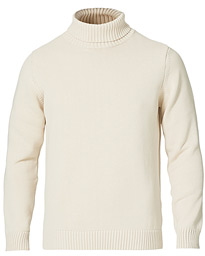 Heavy Cotton Roll Neck Off White