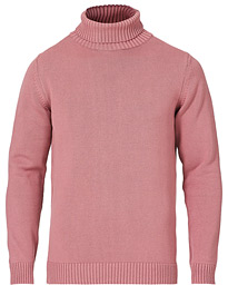 Heavy Cotton Roll Neck Dusty Pink