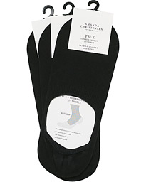 3-Pack True Cotton Invisible Socks Black