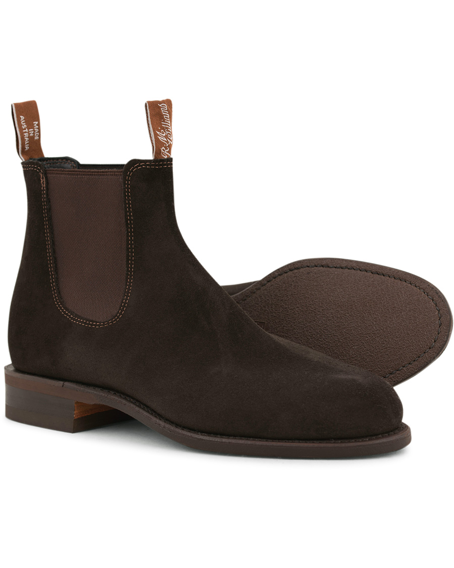 2453cf4105f R.M.Williams Wentworth G Boot Chocolate Suede i gruppen Sko / Støvler hos  Care of Carl