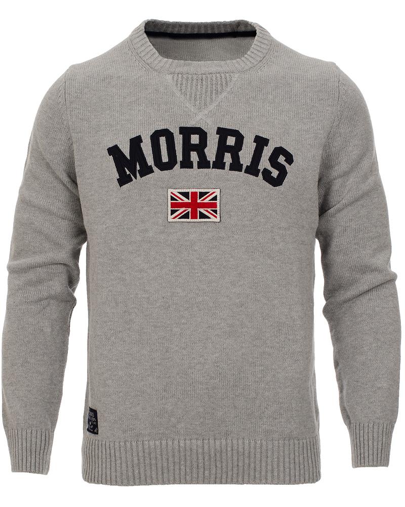 9dcf854b22dd Morris Athletic O-Neck Sweater Grey hos CareOfCarl.dk