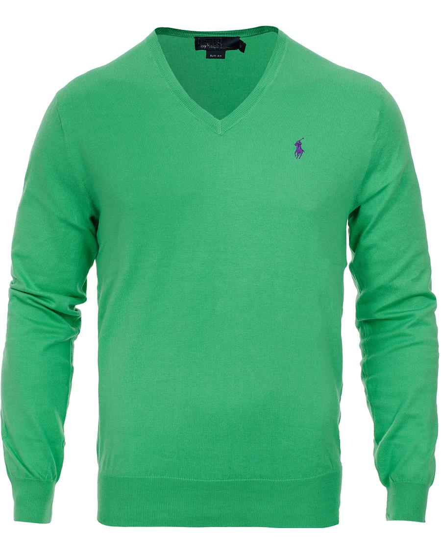Polo Ralph Lauren Slim Fit Pima Cotton V Neck Pullover