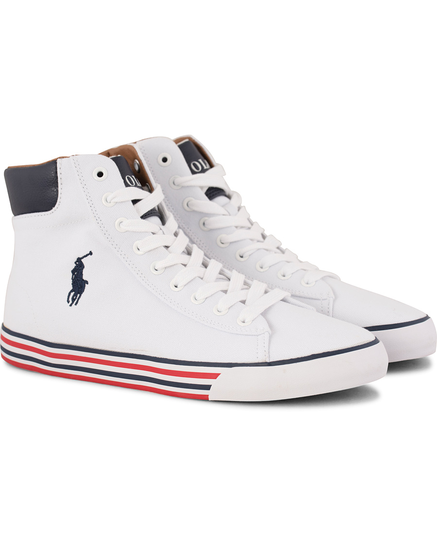 38aa7689094 Polo Ralph Lauren Harvey Mid-NE Sneaker White/Newport Navy hos Ca