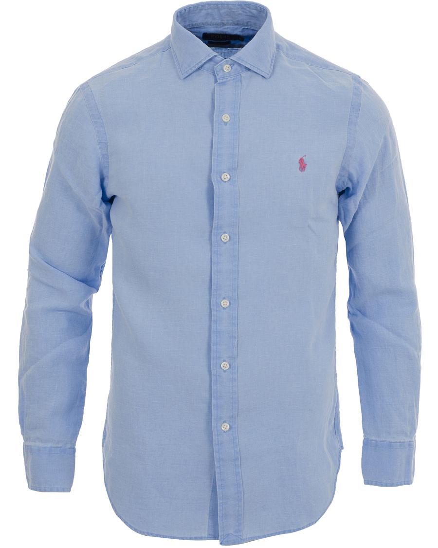 Polo Ralph Lauren Slim Fit Estate Linen Shirt Blue hos