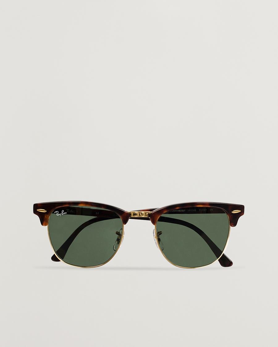 c5a1d4ed39bd Ray-Ban Clubmaster Sunglasses Mock Tortoise Crystal Green hos Ca