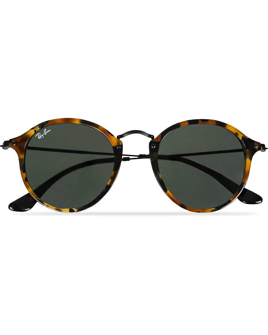 33bbee8df839 Ray-Ban RB2447 Acetat Round Sunglasses Spotted Black Havana Green