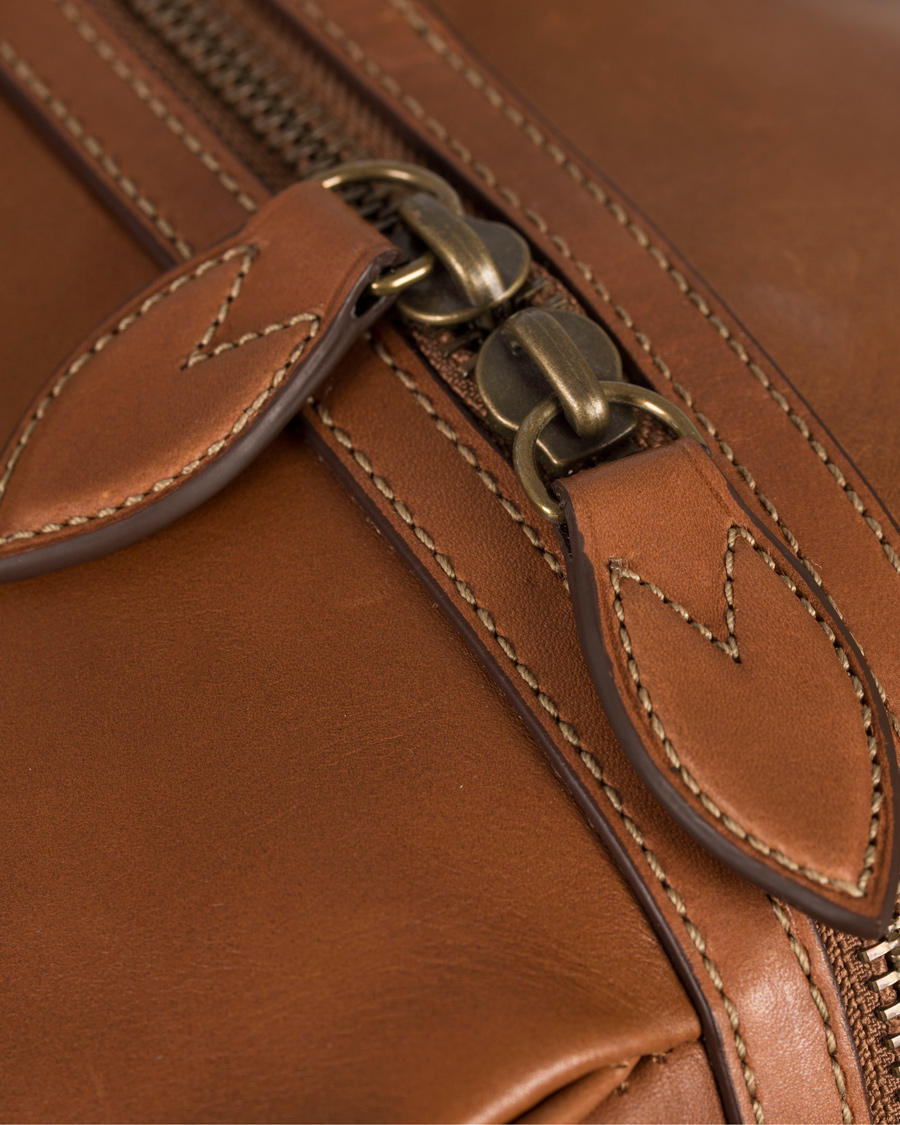 Polo Ralph Lauren Duffle Leather Bag Congac hos CareOfCarl.dk d6f51315df8c4