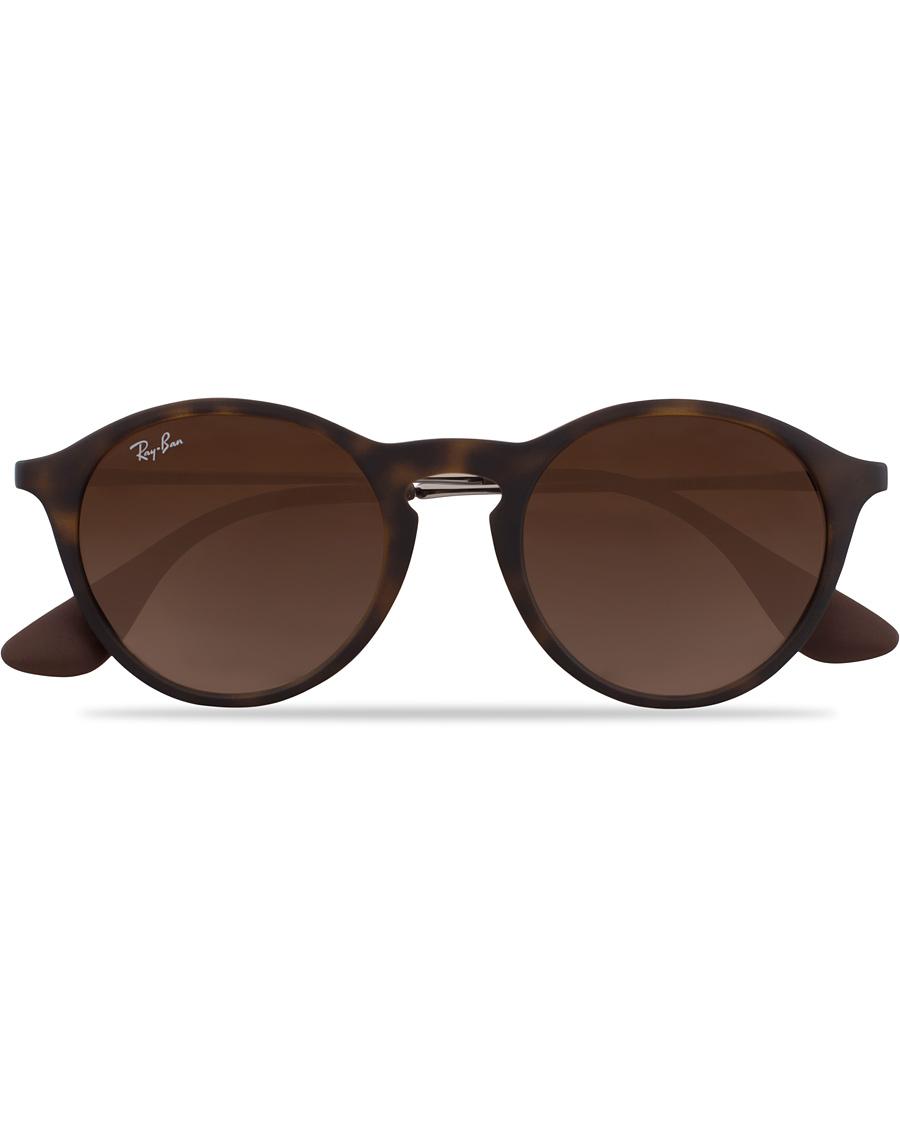 81c8daa2e493 Ray-Ban 0RB4243 Round Sunglasses Rubber Havana hos CareOfCarl.dk