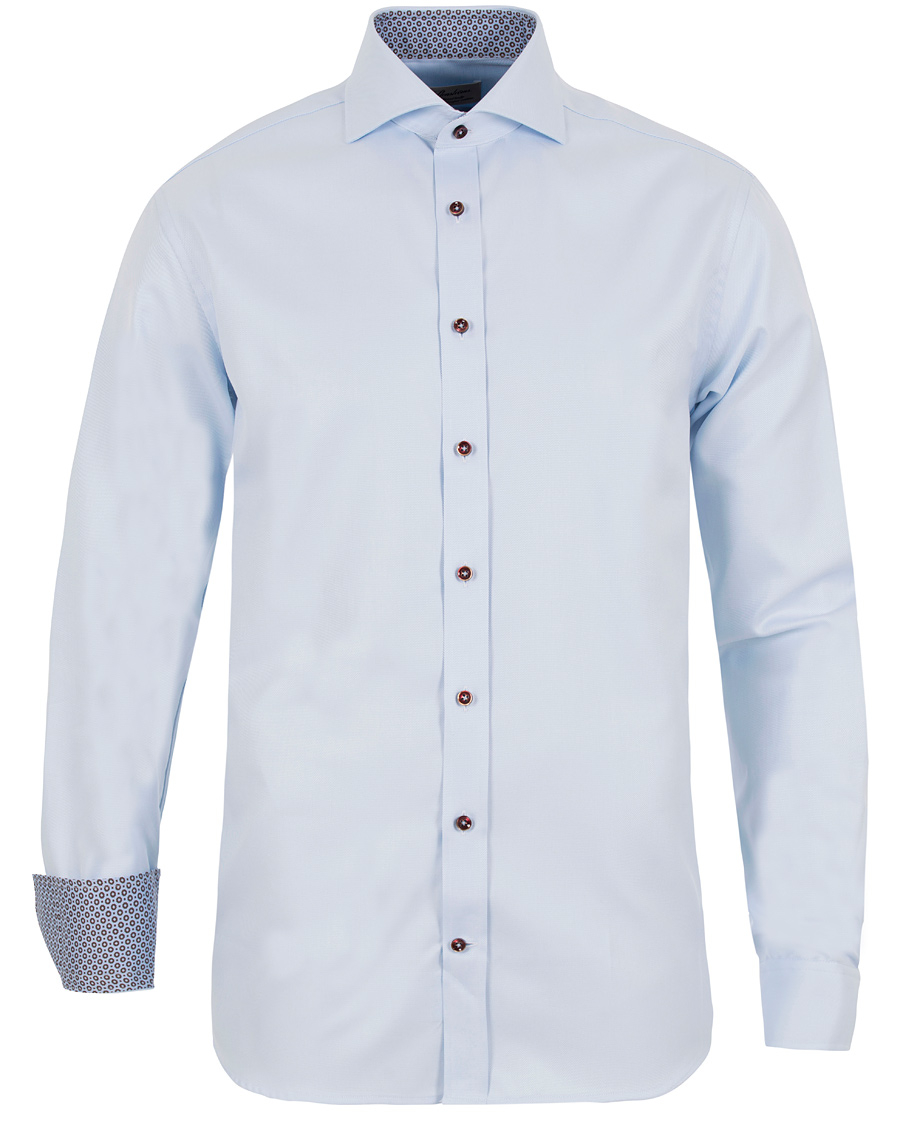 9e180bff Stenströms Fitted Body Contrast Shirt Light Blue hos CareOfCarl.d