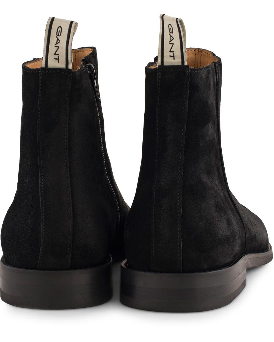7a8ca8af101 GANT Max Zip Chelsea Boot Black Suede hos CareOfCarl.dk