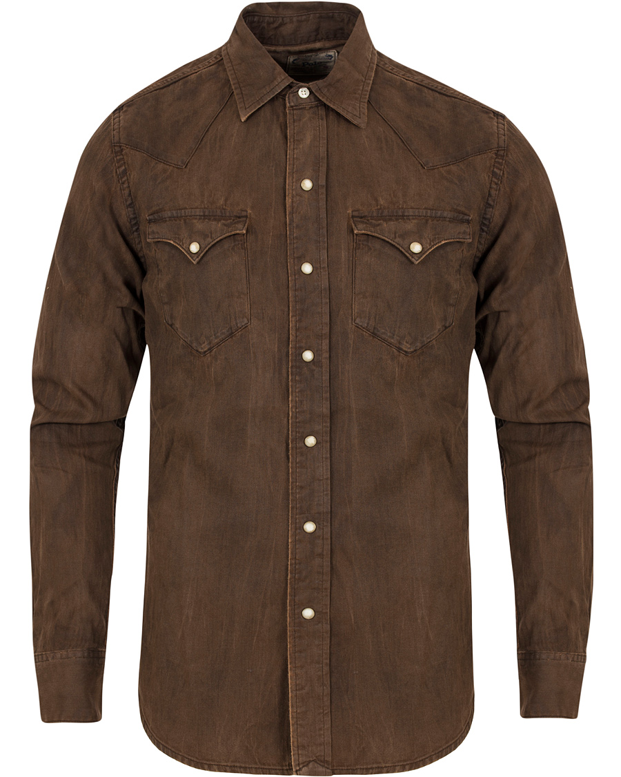 Polo Ralph Lauren Western Denim Shirt Stillwell Brown hos