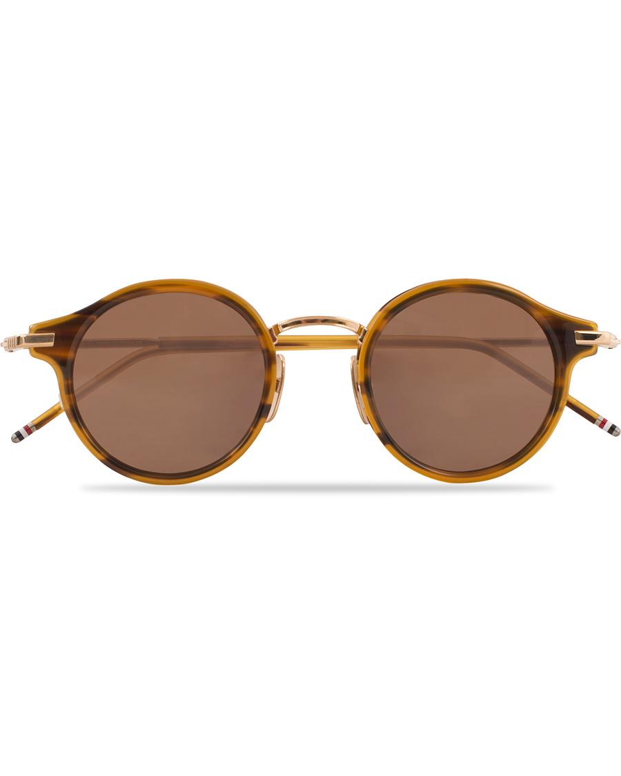 6ae0da1ee20 Thom Browne TB-807 Sunglasses Walnut Dark Brown hos CareOfCarl.d