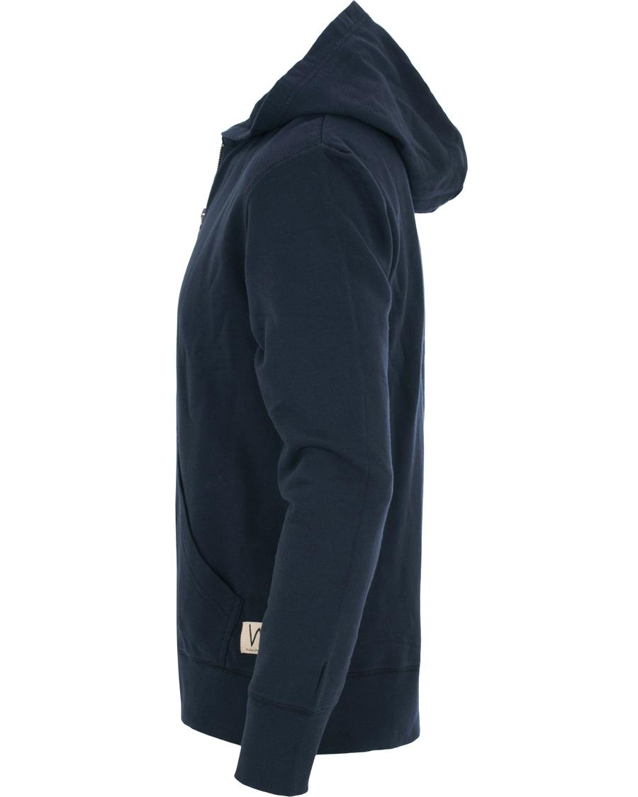 Nudie Jeans Loke Full Zip Hoodie Navy S