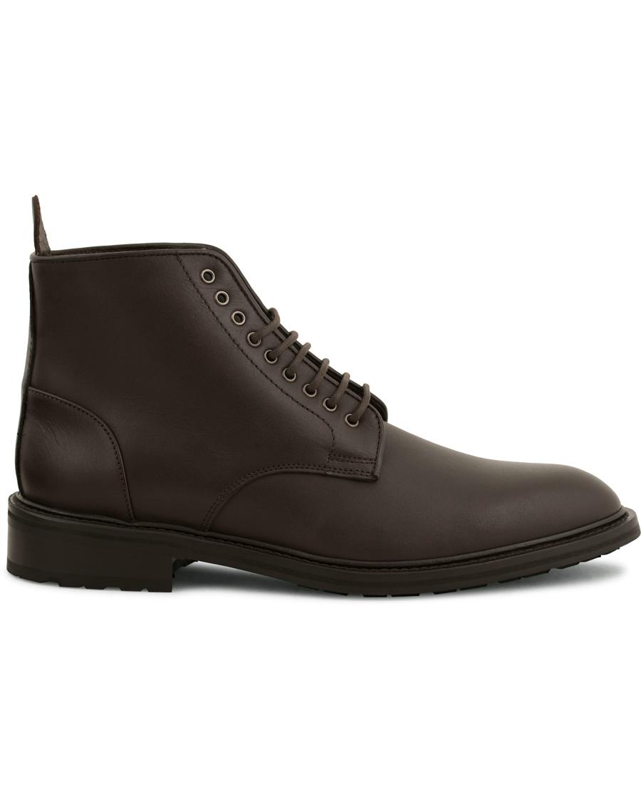 tiger of sweden didcot dark brown mand sko støvler med snøre