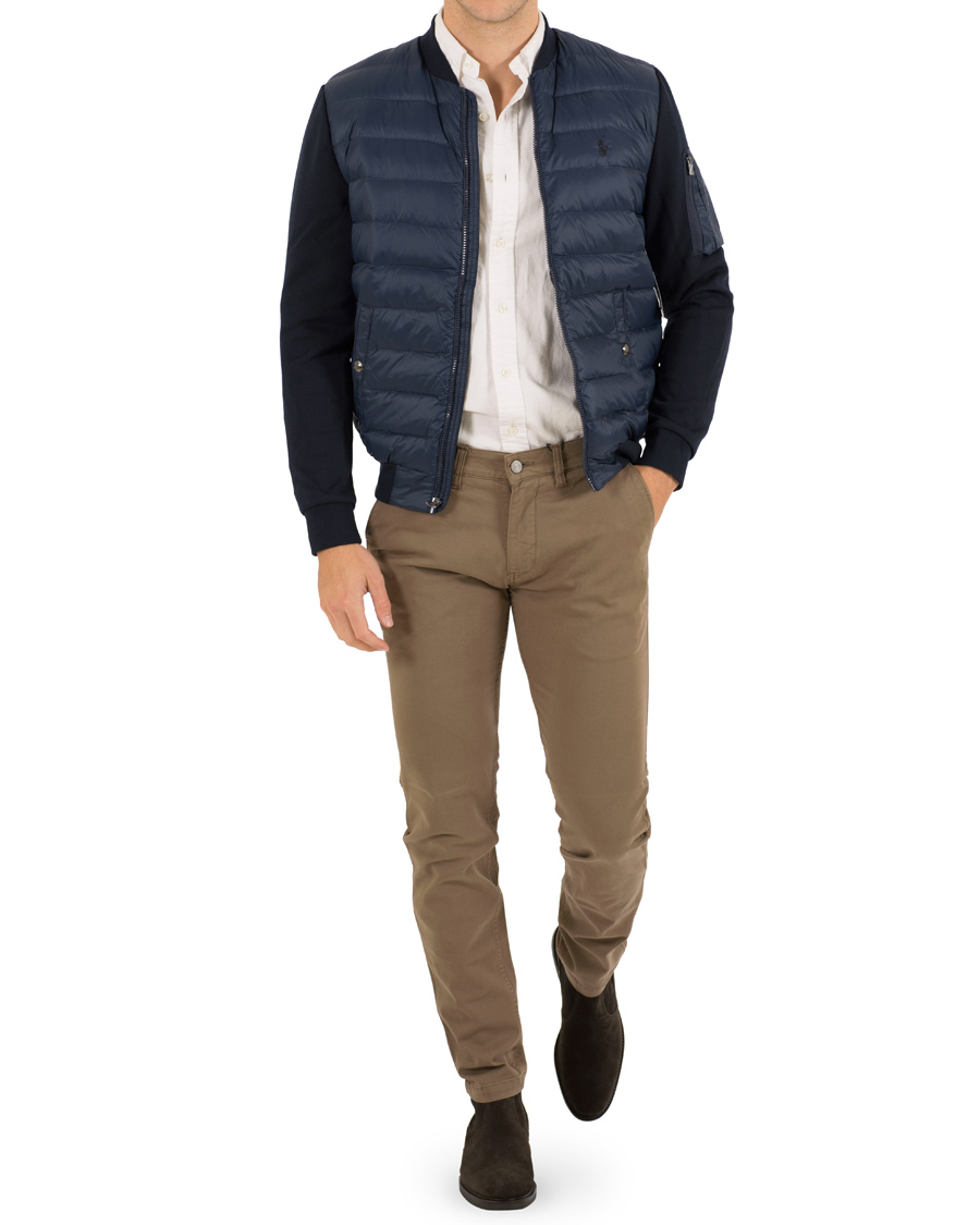 Polo Ralph Lauren Hybrid Bomber Down Jacket Navy hos ...