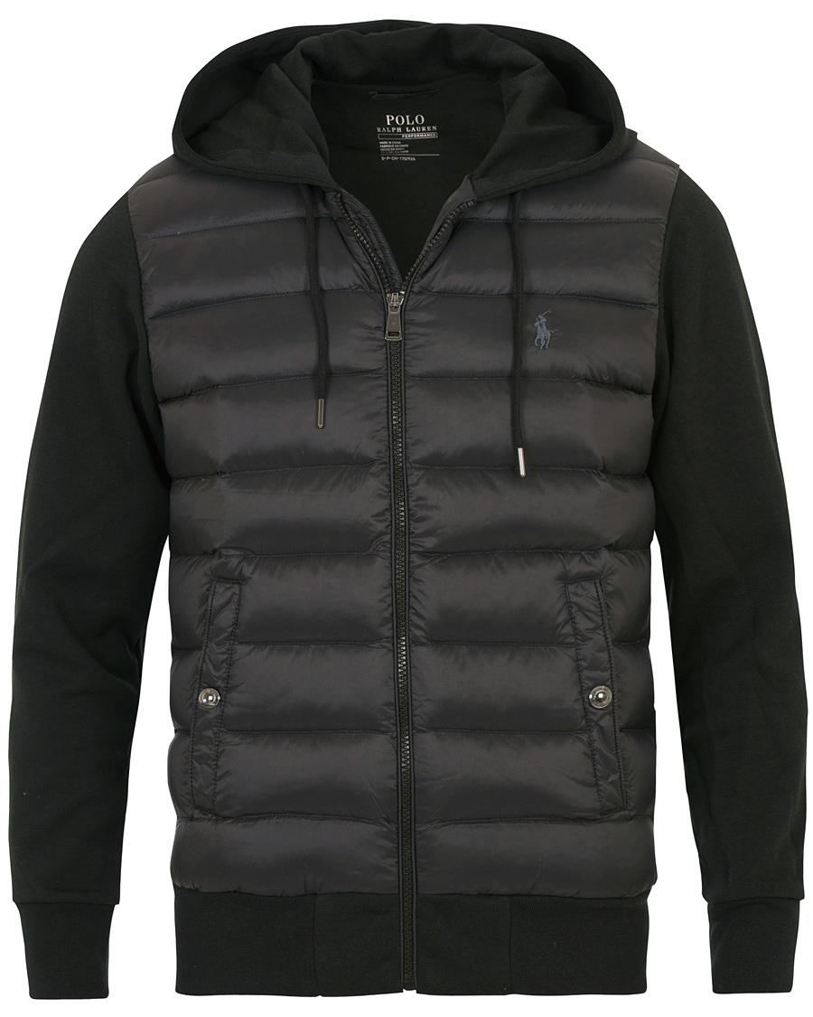 e93be0f6394 Polo Ralph Lauren Hybrid Down Full Zip Hood Jacket Black hos Care