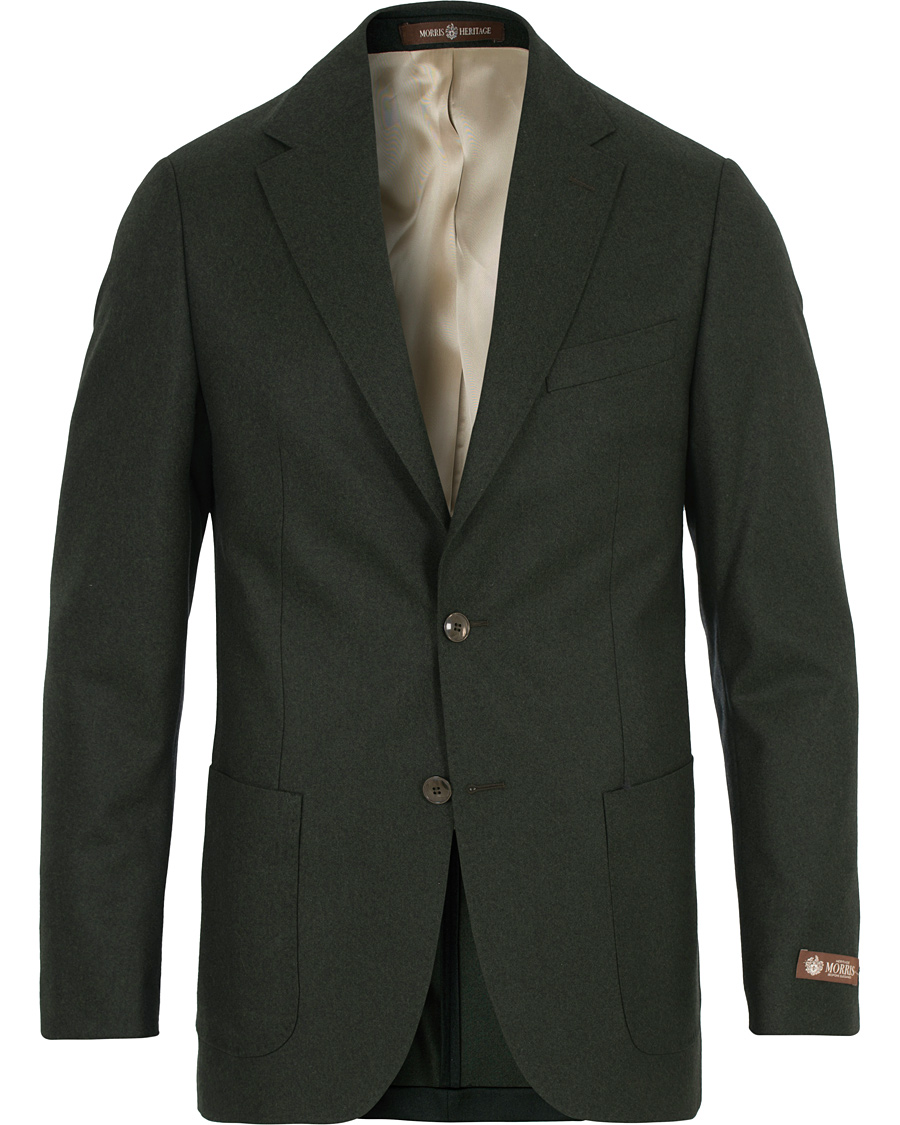 Morris Heritage Mike Light Flannel Blazer Green hos