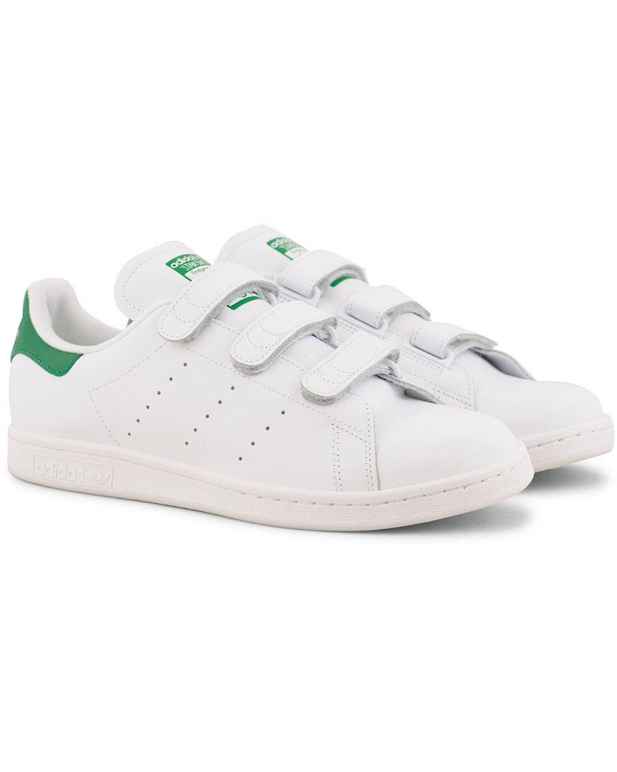 Adidas Originals Stan Smith Leather Velcro Sneaker White hos